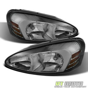 Smoked 2004 2008 Pontiac Grand Prix Headlights Headlamps Replacement Left right