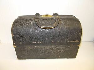 Kw 152 Emdee By Schell Antique Vintage Leather Doctor S Bag Steampunk