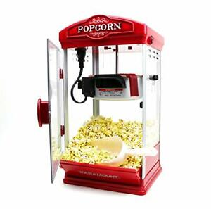 8oz Red Popcorn Maker Machine By Paramount New 8 Oz Capacity Theater Popper Hot