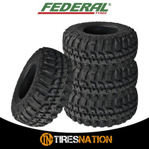 4 New Federal Couragia M T 35x12 50r17 125q All Terrain Mud Tires