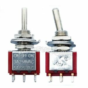 100pcs High Quality 6 Pin Dpdt On off on 3 Position Mini Toggle Switches Mts 203