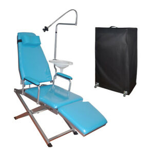 Dental Portable Simple Type Folding Chair With Pull Rod Box Plastic Spittoon