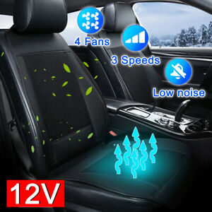 12v Cooling Car Seat Cushion Cover Air Ventilated Fan Conditioned Cooler Pad