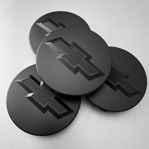 4 Matte Black Wheel Rim Center Hub Caps For Chevy Silverado Suburban Tahoe 83mm