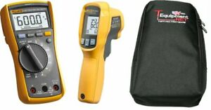 Fluke 117 62 Max Kit 117 Electrician True Rms Multimeter With 62 Max Ir Thermo