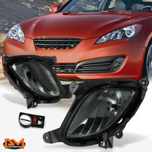 For 10 12 Hyundai Genesis Coupe Smoked Lens Front Bumper Fog Light lamp W switch