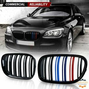 Gloss Black Front Kidney Grill M Color For Bmw F01 F02 740i 750li 760li 4d 09 15