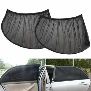 2pcs Window Sun Shade Mesh Cover Baby Uv Protector Shield Curtain For Car Suv Pr