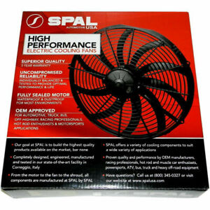 Spal 30102048 Pusher Fan 16in High Performance Curved Blade 1959 Cfm