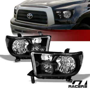 For 2007 2013 Toyota Tundra Black Clear Housing Headlights Signal Lamps Pair Nb