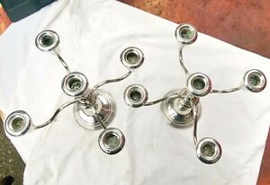 Pair Of Towle Sterling Silver 5 Arm Convertible Candelabra