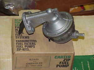 1963 1964 Max Wedge 413 426 Carter 3446s Fuel Pump Nos Mopar Plymouth Dodge