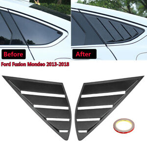 Carbon Quarter Louver Cover Vent Side Window For Ford Fusion Mondeo 2013 2018 Us