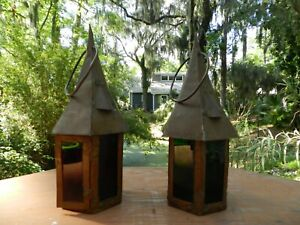 Arts And Crafts Lamps Lights Copper Lanterns Price Is For Pair
