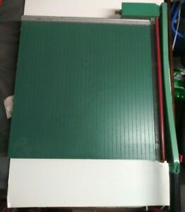 Vintage Heavy Duty Premier 18 Green Paper Trimmer Cutter 218 Arts Crafts Photos