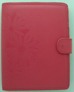Daytimer 8 5 X 5 5 Pages Pink With Embossed Flowers