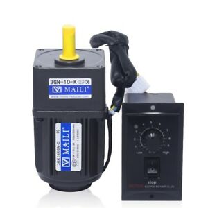 125rpm 220v 15w Ac Gear Motor Electric Motor Variable Speed Controller 1 10