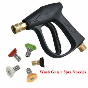 High Pressure Washer Adapter Water Gun Spray 5 Pcs Quick Connect Adapter Nozzles