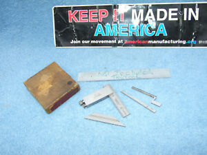 Lufkin Die makers 138cx Square Usa Machinist 5 Pieces Paper Box Inspection Qa