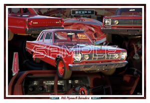1966 Plymouth Belvedere Hp2 Poster Print