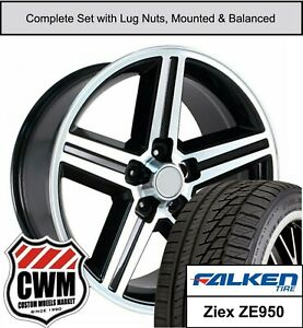 16 X8 Wheels And Tires For Chevy Camaro Black Machined Iroc Rims Fit 1982 1992