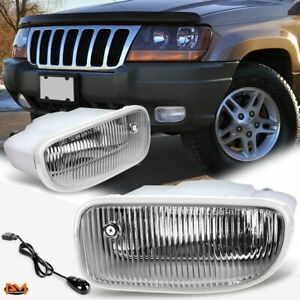 For 99 04 Jeep Grand Cherokee Clear Front Bumper Driving Fog Light Lamp Switch