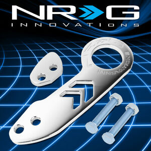 Nrg Tow 110ch Aluminum Universal Fit Vehicle Rear Bumper Towing Tow Hook Kit
