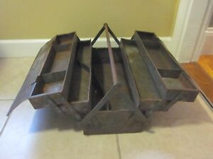 Very Rare Vtg Snap On Tool Box K11 1932 1948 Master Handikit Cantilever Must See