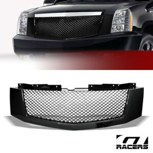 For 2007 2014 Cadillac Escalade Black Luxury Mesh Front Bumper Grill Grille Abs