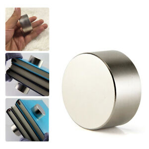 40mm 20mm Super Strong Neodymium Round Rare Earth N52 Fridge Magnets Large Size