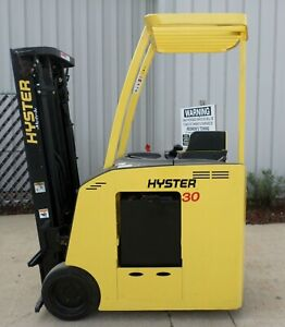 Hyster Model E30hsd 2002 3000 Lbs Capacity Great Docker Electric Forklift
