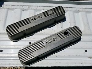 Vintage Pontiac Holley Aluminum Finned Valve Covers