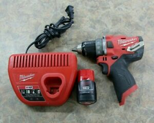Milwaukee 2504 20 M12 Fuel 1 2 Hammer Drill W Charger 2 0ah Battery