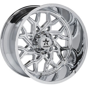22x12 Chrome Rbp 80r scorpion Wheels 6x135 44 Lifted Fits Ford Expedition