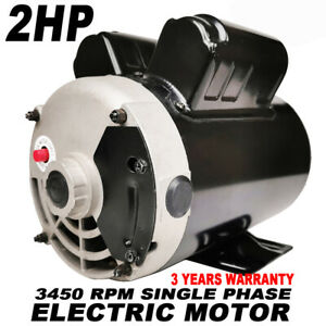 2 Hp Spl Air Compressor Duty Electric Motor 3450 Rpm 56frame 5 8 Shaft 120 240v