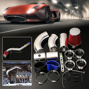 Universal Car Performance 3 Cold Induction Air Filter Hose System Intake Pipe