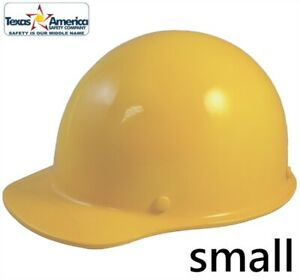 Msa Skullgard small Shell Cap Style Hard Hat With Ratchet Suspension Yellow