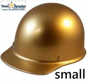 Msa Skullgard small Shell Cap Style Hard Hat With Ratchet Suspension Gold