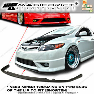 For 09 10 11 Honda Civic 2d Coupes Fg1 Fg2 Sti S204 Style Front Lip Chin Spoiler