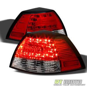 2008 2009 Pontiac G8 Red Clear Lumileds Led Tail Lights Brake Lamps Left Right