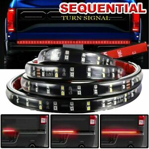 2 Row 60 240 Led Strip Sequential Turn Signal Brake Reverse Tailgate Light Bar