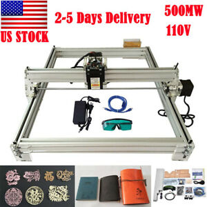 40x50cm Mini Laser Engraving Machine 500mw Marking Wood Printer Diy Logo Cutting