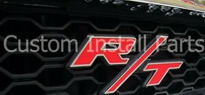 Grille Nameplate Clip Rt R T Emblem Badge Logo Fits Dodge Charger Challenger Srt
