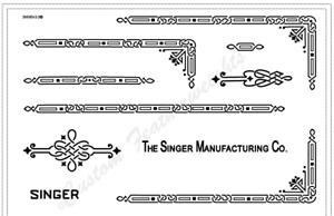 Singer Featherweight 221 Sewing Machine Restoration Decals Black Ink