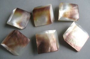 6 Matching Mother Of Pearl Mop Square Faux Cube 1 1 8 Sweater Vintage Buttons