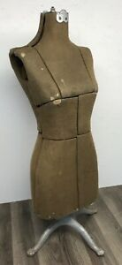 Petite Dress Making Form Mannequin Cast Clawfoot Vintage Antique Shabby Display