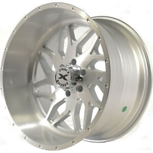22x12 Brushed Xtreme Force Xf2 Wheels 6x135 44 Lifted Fits Ford Expedition