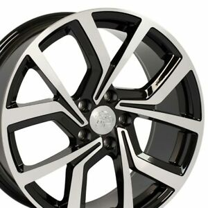 Npp Fit 18 Wheel Volkswagen Gti Style Offset 42mm Vw29 Gloss Blk Mach d 18x8