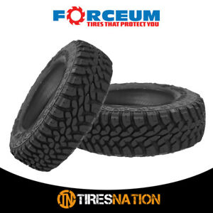 2 New Forceum Mt08 Lt265 70r17 121 118p All Terrain Mud Tires