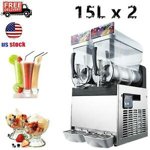 2 Tanks 30l Commercial Frozen Drink Slush Ice Machine Margarita Machine